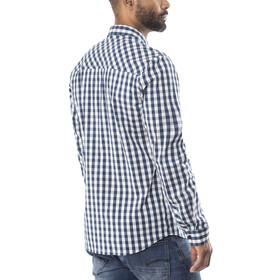 Schöffel Miesbach1 Langærmet T-shirt Herrer hvid/petroleumsgrøn